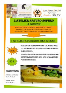 affiche Atelier culinaire naturo-sophro