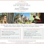 Atelier floral au château pape Clément chaque samedi après-midi d'avril à fin juin 2018